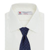 Cream Herringbone Superfine Cotton Shirt with T&A Collar and 3-Button Cuffs