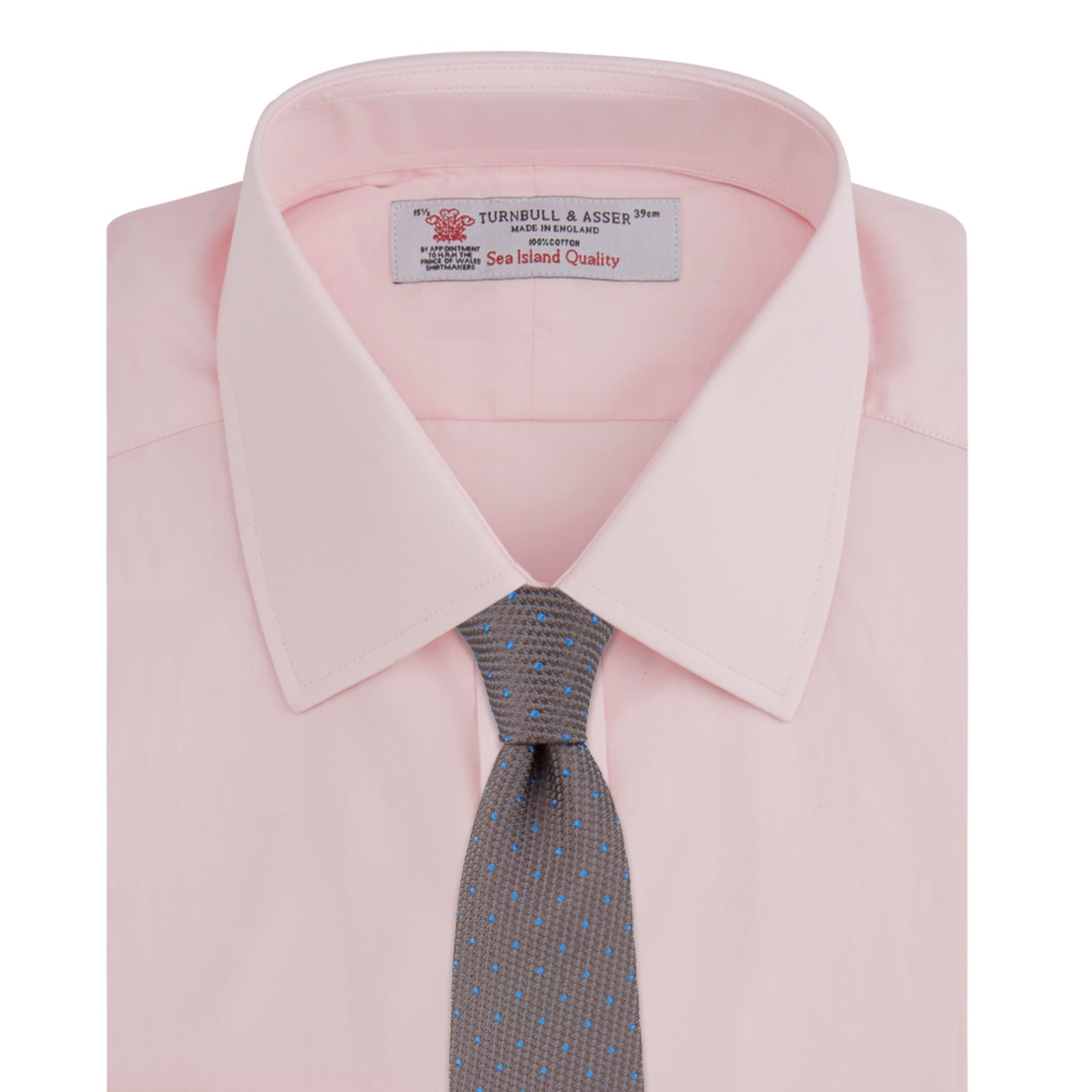 Pink Sea Island Quality Cotton Shirt with T&A Collar and 3-Button Cuffs