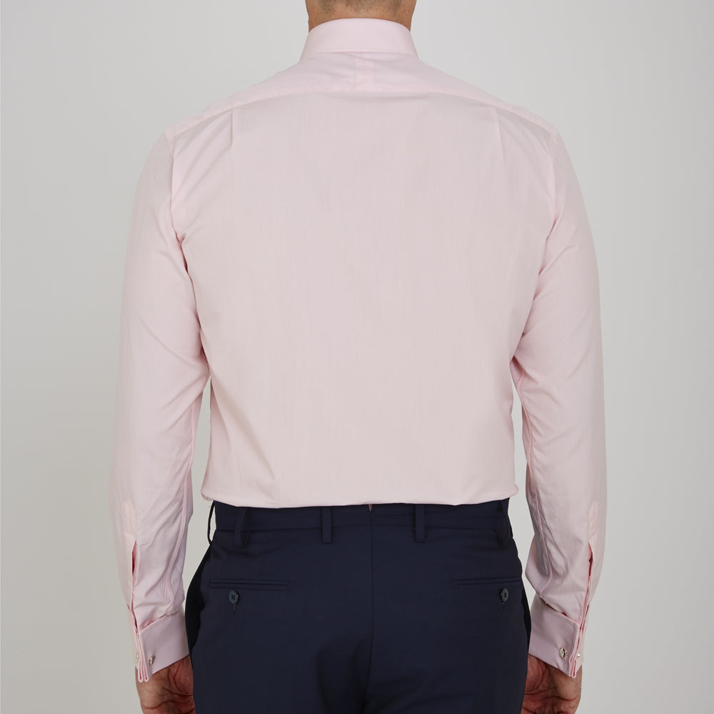 Pink Sea Island Quality Cotton Shirt with T&A Collar and Double Cuffs