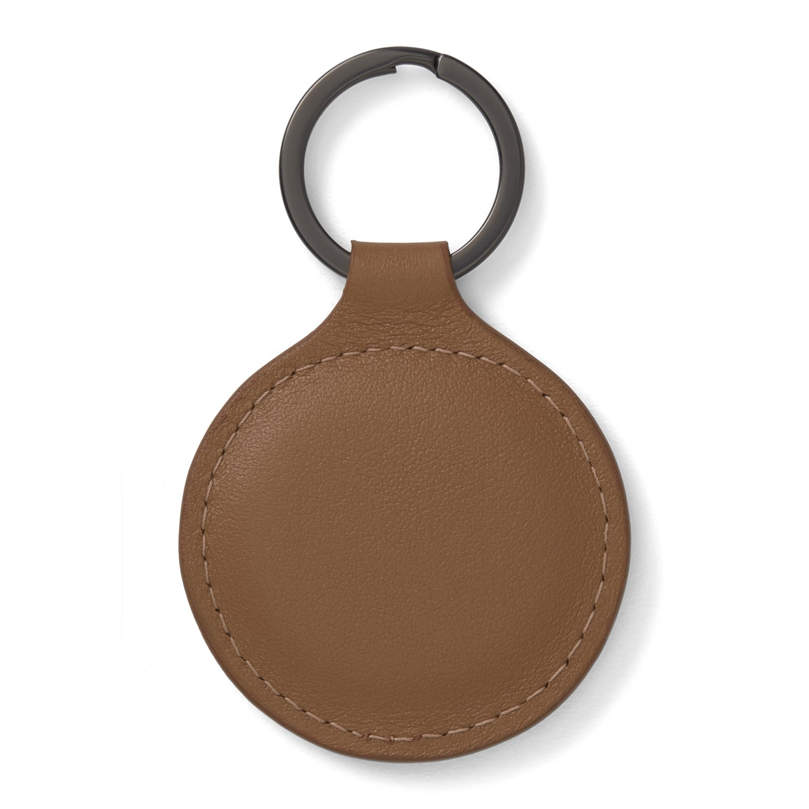 Peanut Brown Leather Key Fob