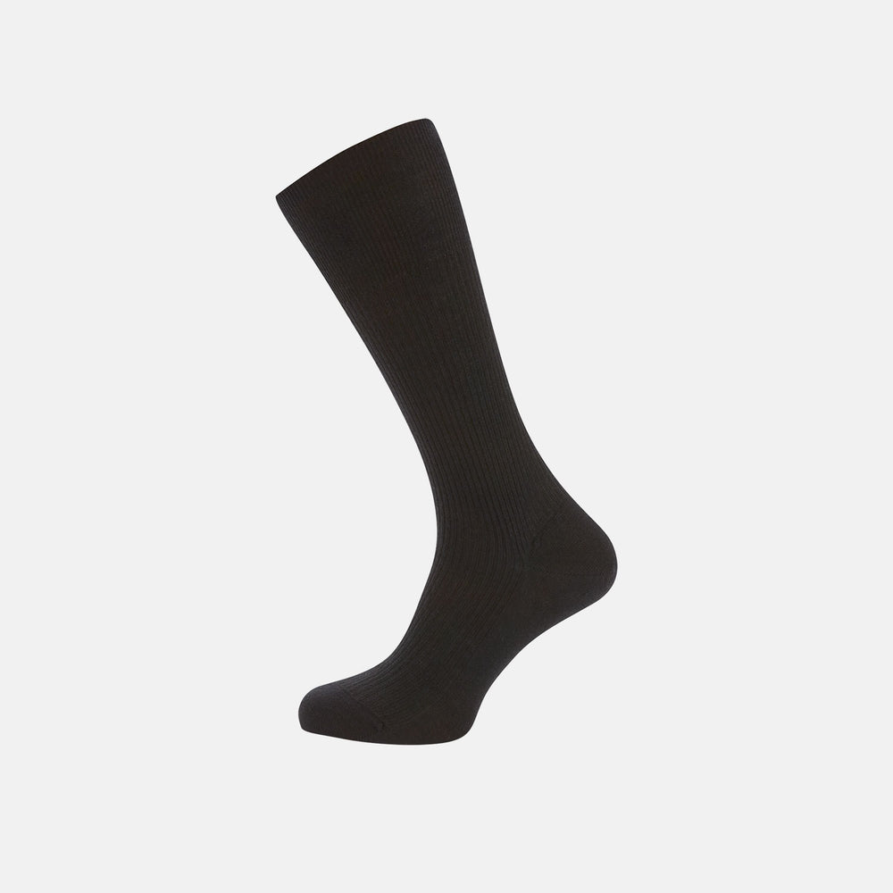 Black Mid-Length Merino Wool Socks