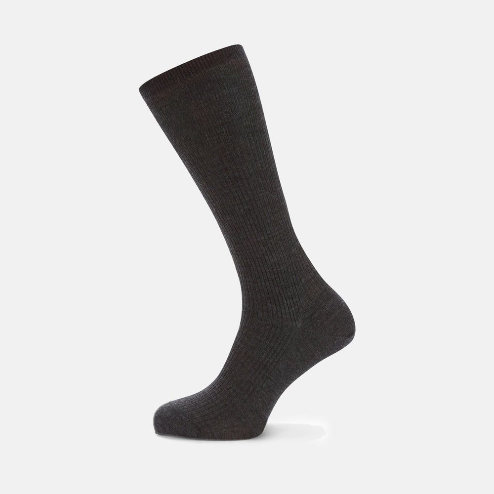 Charcoal Mid-Length Merino Wool Socks