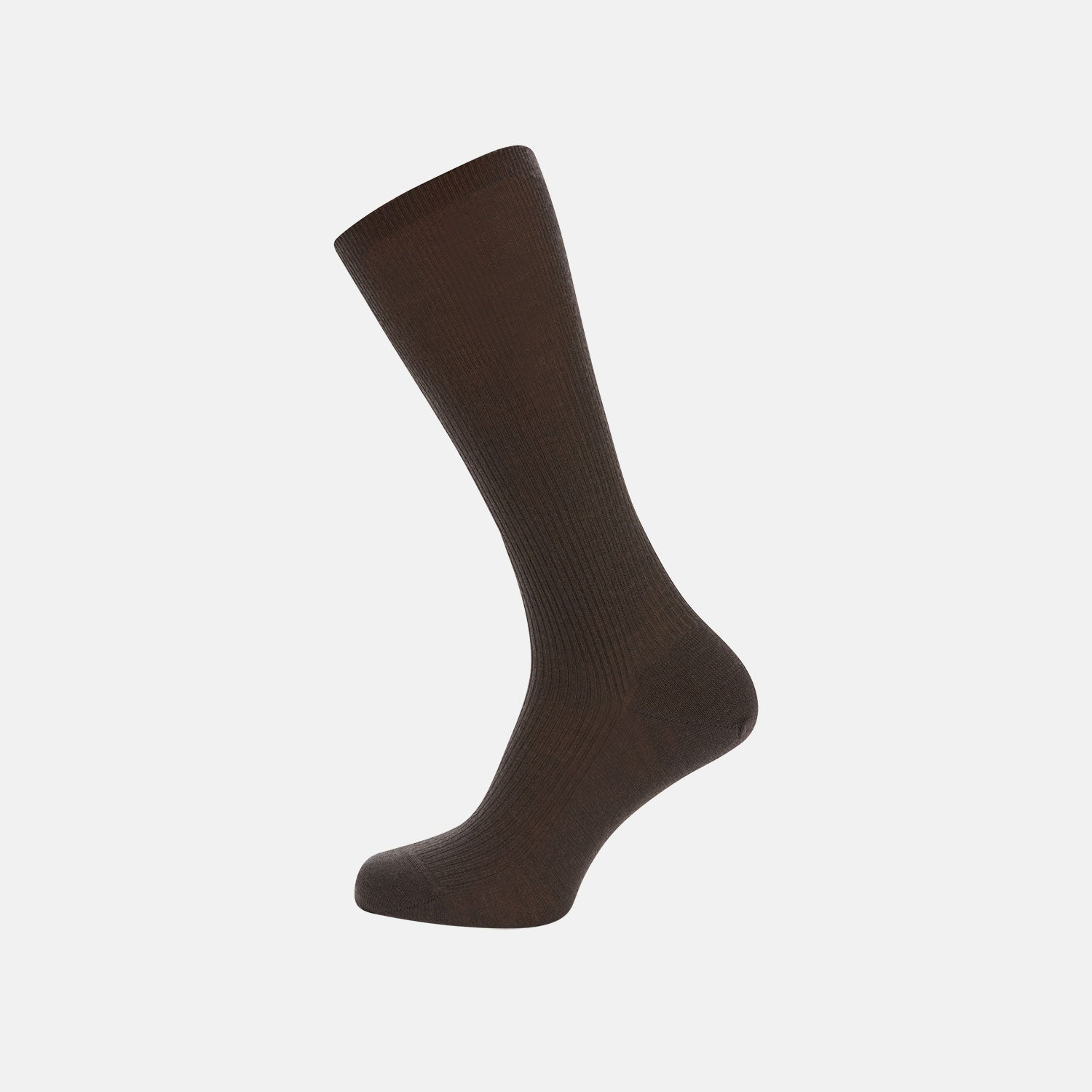 Chocolate Brown Mid-Length Merino Wool Socks