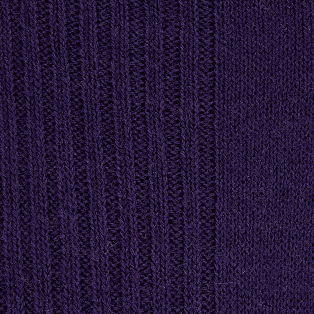Dark Purple Mid-Length Merino Wool Socks