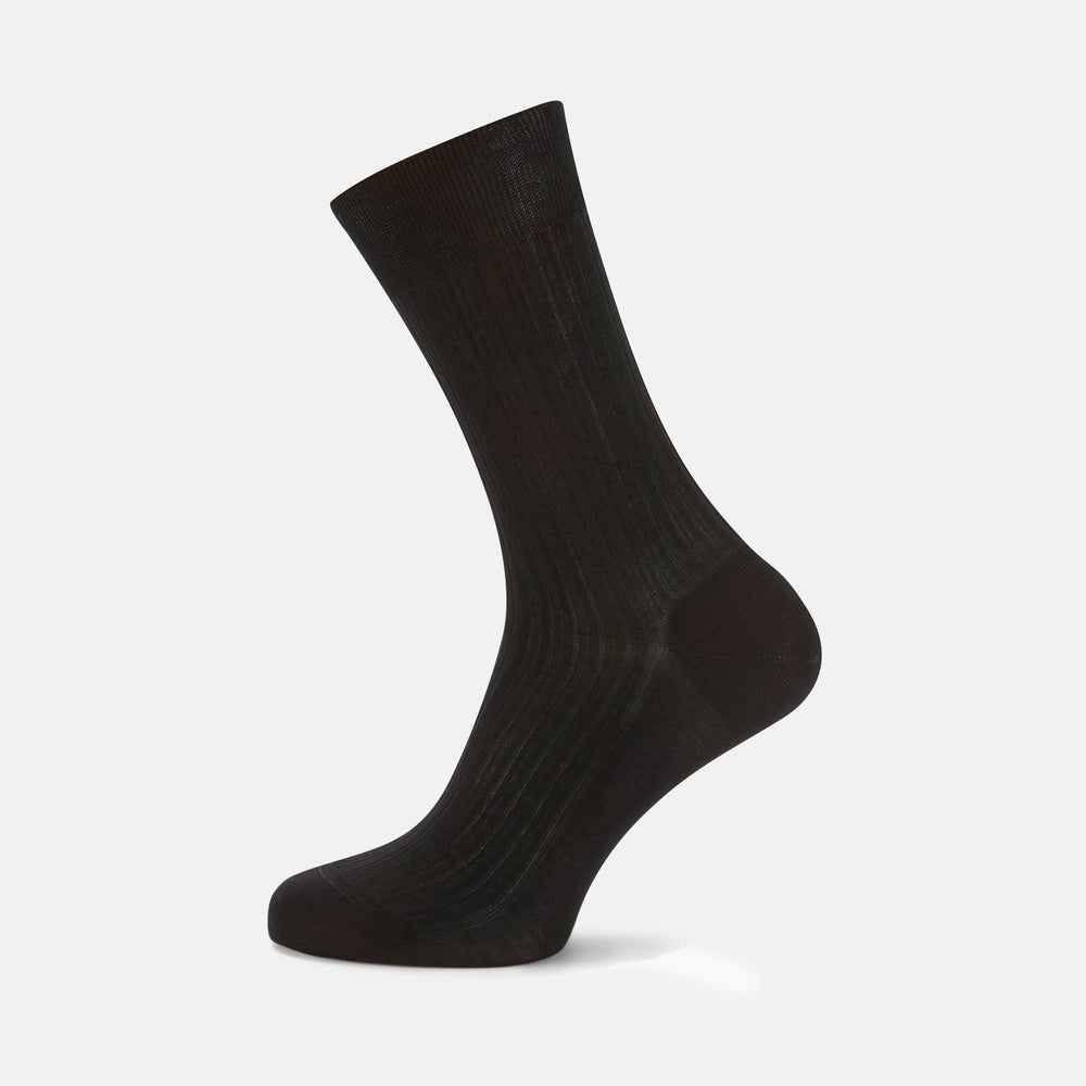 Black Short Cotton Socks