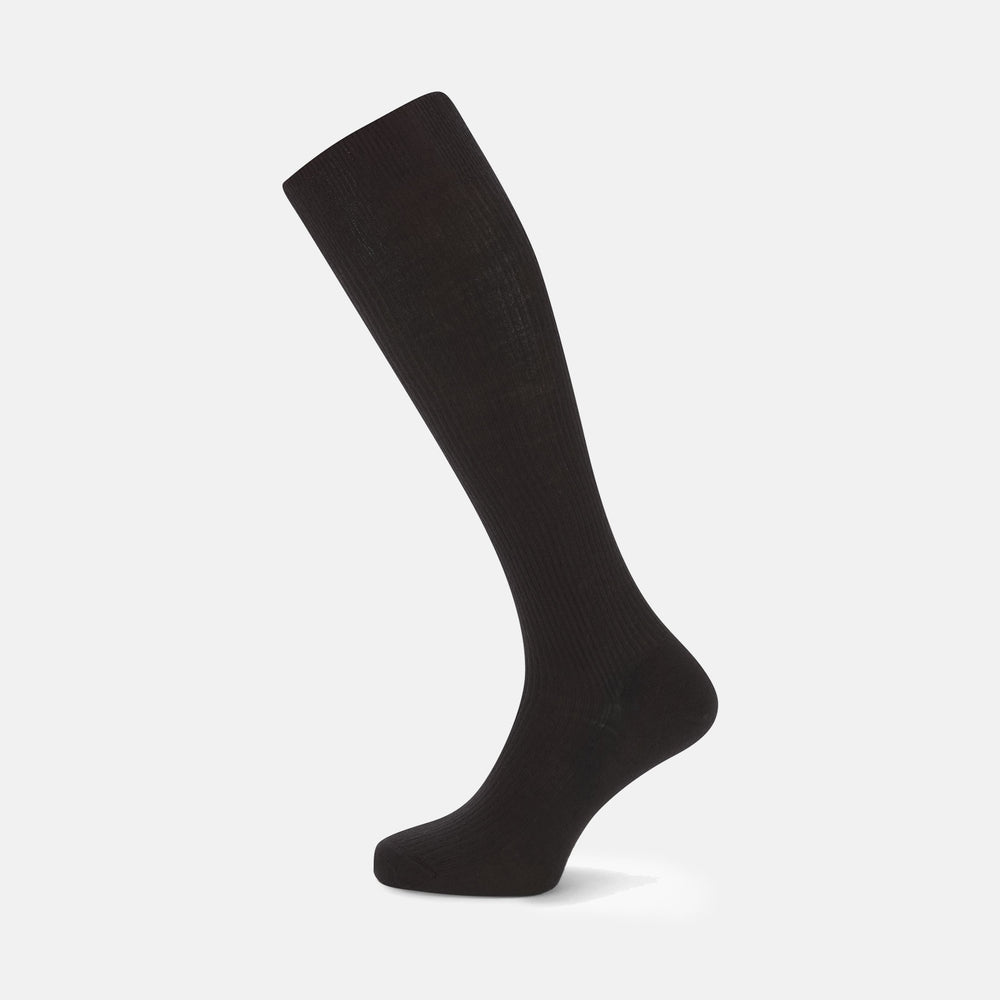 Black Long Merino Wool Socks