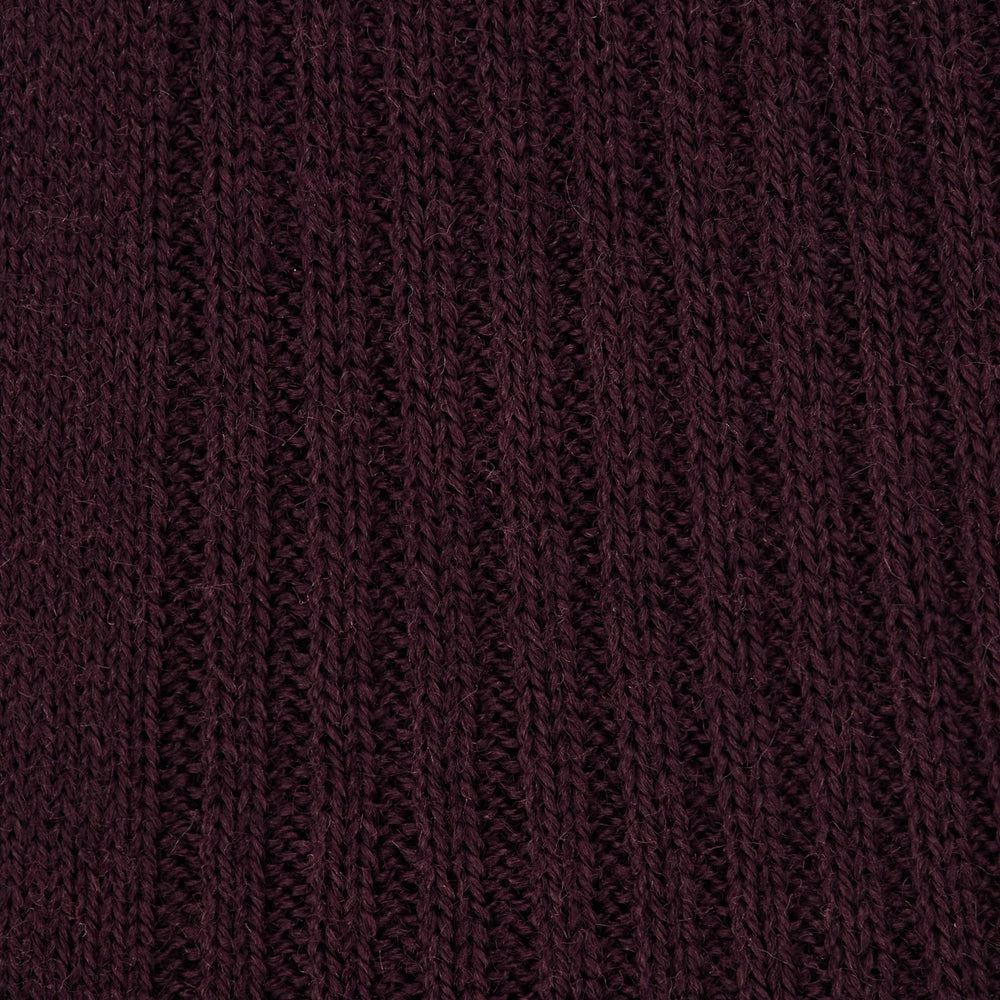 Maroon Long Merino Wool Socks