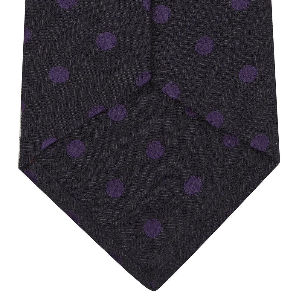 Purple Spot Silk Blend Noile Tie