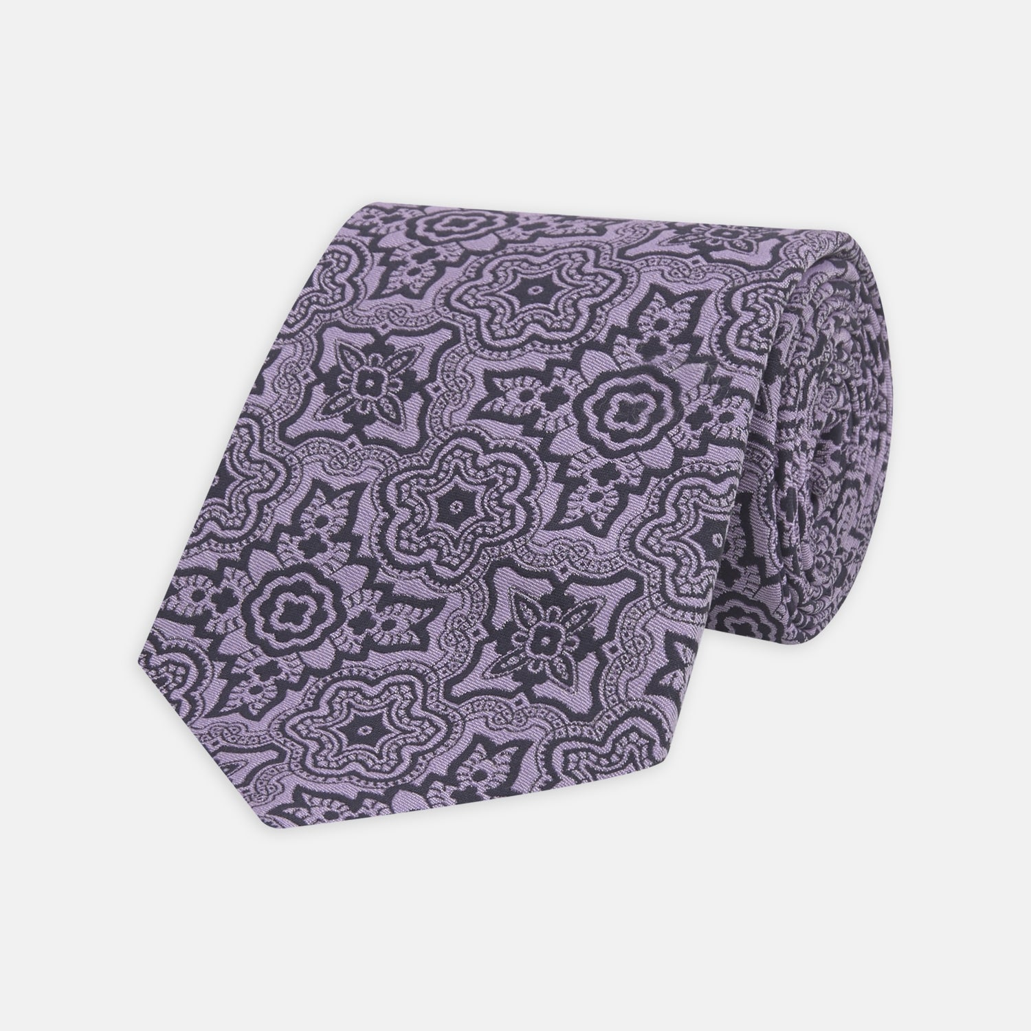 Purple Wallpaper Silk Tie