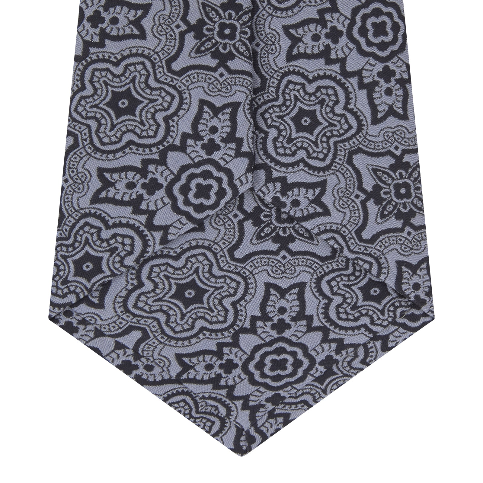 Blue Wallpaper Silk Tie