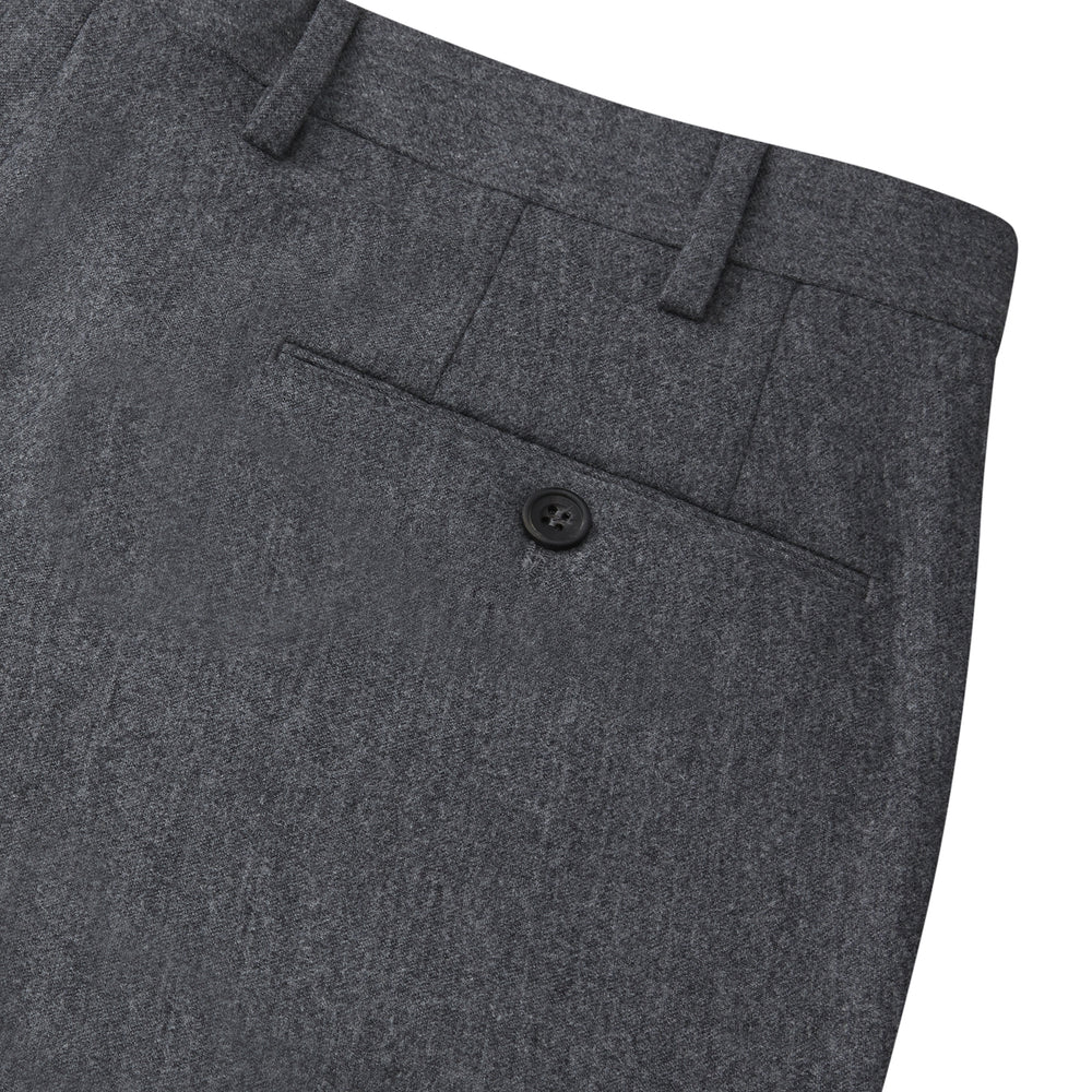 Charcoal Flannel Trousers