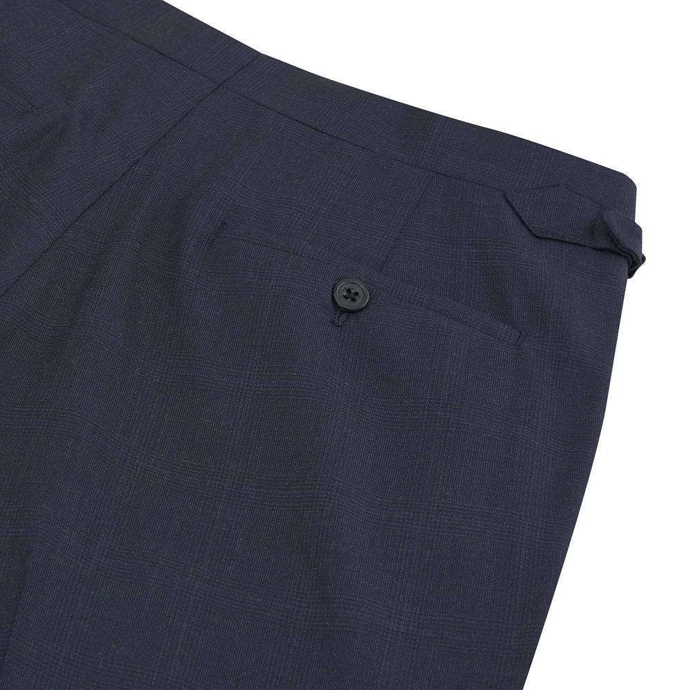 Harry Navy Check Wool Trousers
