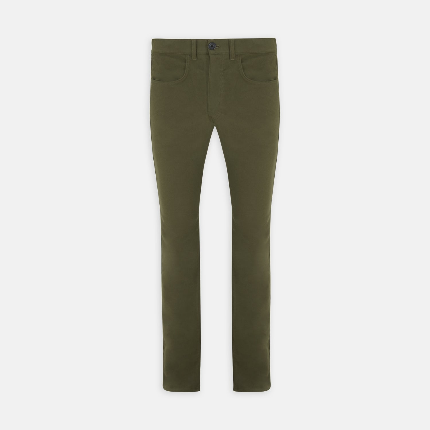 Hanley Dark Olive Moleskin 5-Pocket Trousers