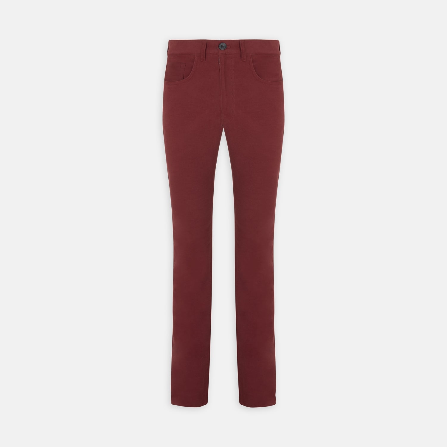Hanley Maroon Moleskin 5-Pocket Trousers