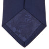 Navy Plain Satin Silk Tie