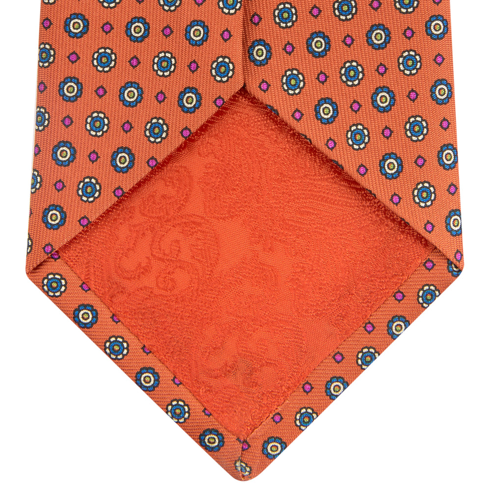 The Great Gatsby Orange Printed Silk Tie
