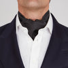 Black and White Small Spot Silk Ascot Tie
