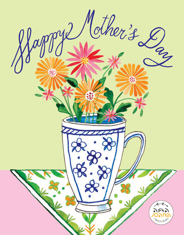 Flowers in a mug Mother's Day greeting