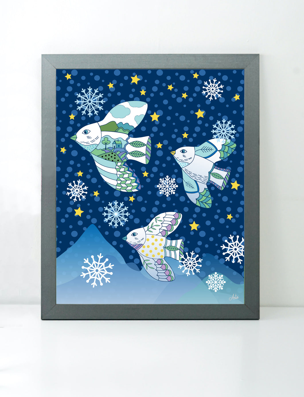 Birds Nightscape art print