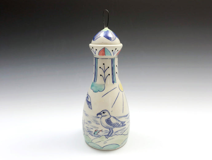 Bottle with seaguls