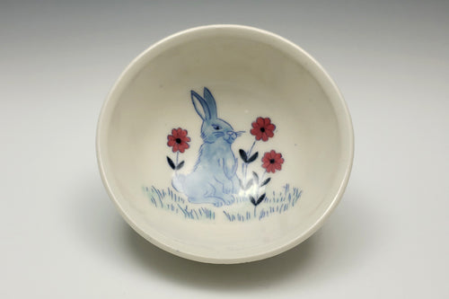 Personal sized bowl with bunny