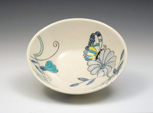 Personal sized bowl with butterfly