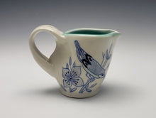 Load image into Gallery viewer, Creamer with dogwood flowers and birds