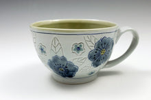 Load image into Gallery viewer, Wide mug with flowers 3