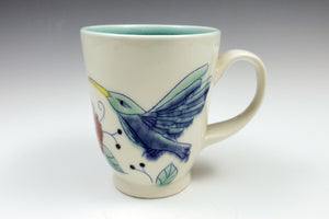 Mug with hummingbirds and hibiscus flowers - 2