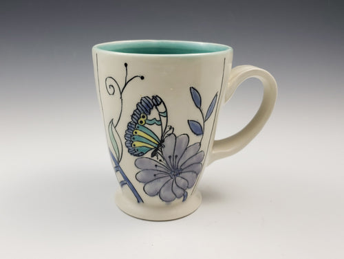 Mug with butterflies - made to order
