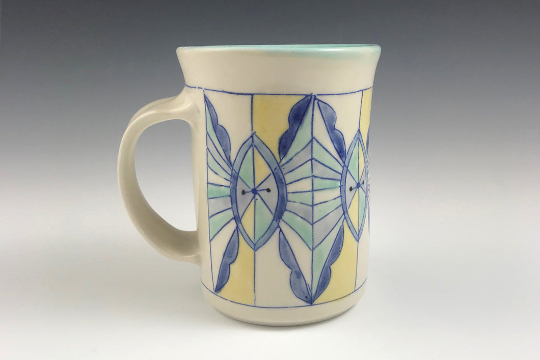 Large mug - beer stein with geometric design