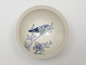 Small bowl with bird and dogwood blossoms