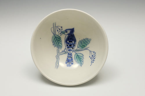 Small bowl with bluejay