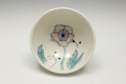 Little bowl with pink poppy