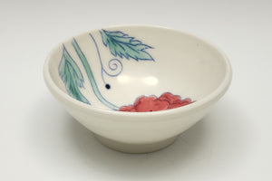 Little bowl with red poppy