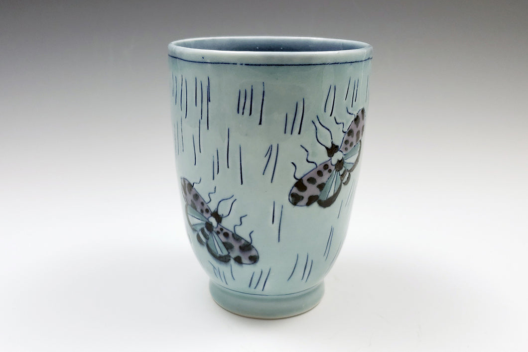 Juice cup with moths 3