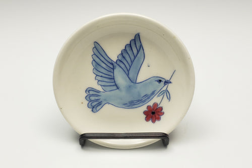 Tiny plate with dove - 1