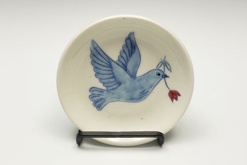 Tiny plate with dove - 2