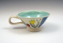 Load image into Gallery viewer, Small tea cup with tulips