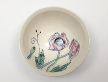 Load image into Gallery viewer, Small bowl with pink poppies