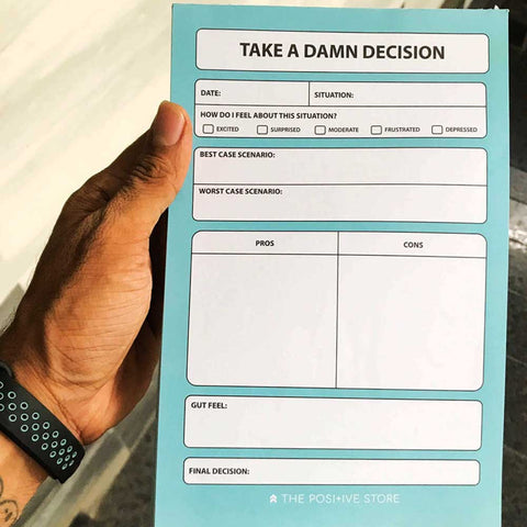 Take a damn decision - Planner pad