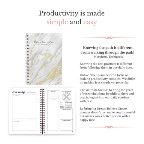 Dream Believe Create (90 Day Planner)