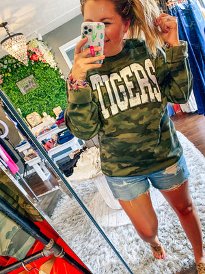 Camo Puff Letter Tigers