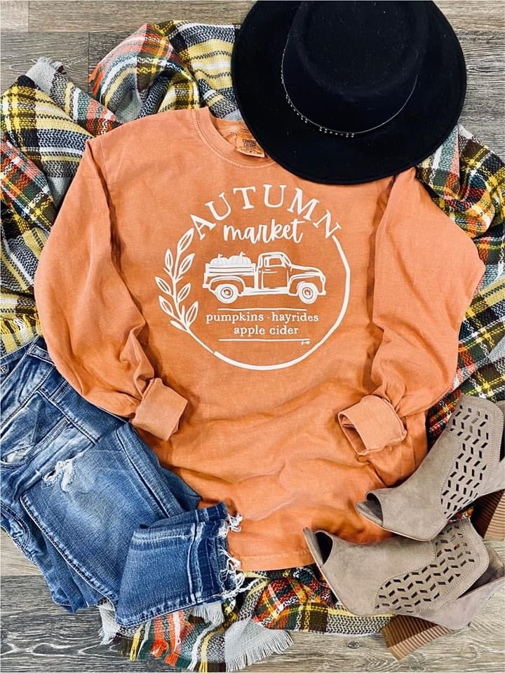 Autumn Comfort Colors Long Sleeve Tee
