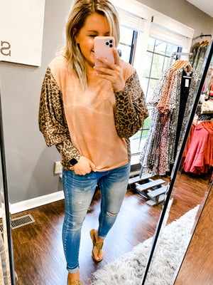 A Touch of Leopard Top