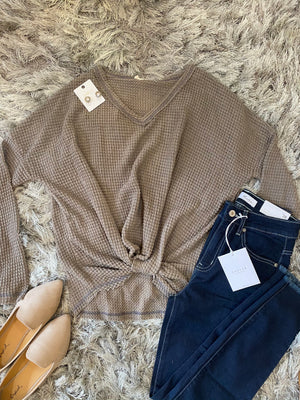 Casual Waffle Knit Tee