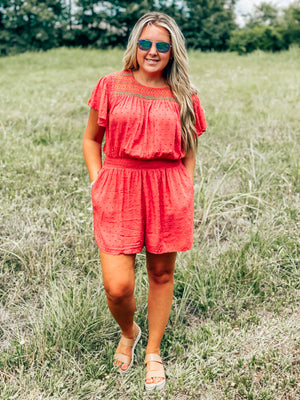 Clay Rose Romper