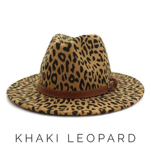 Stevie's Wide Brim Leopard Fedora Hat
