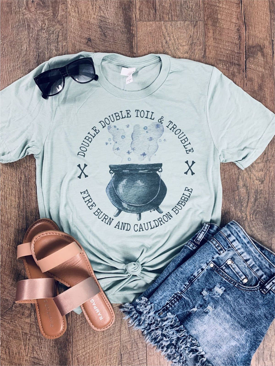 Double Double Toil and Trouble Halloween tee