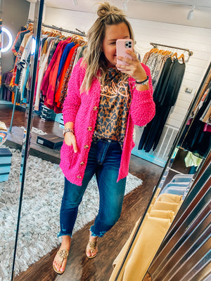 Made For You Hot Pink Cardigan